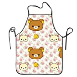Rilakkuma Wallpaper Kitchen Aprons For Women And Men - Adjustable Neck Strap - Restaurant Home Kitchen Apron Bib For Cooking, Grill And Baking, Crafting, Gardening, BBQ