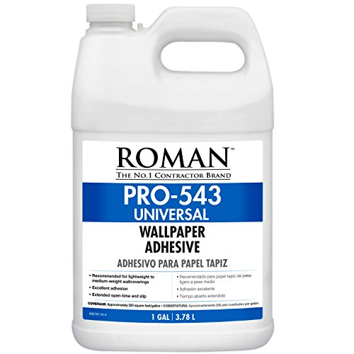 Roman 207811 PRO-543 Universal Wallpaper and Border Adhesive with Applicator, 1 gal ()