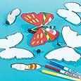 Lot de 6 Planeurs Papillon à Décorer et à assembler pour enfants