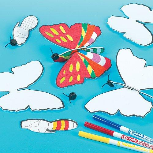 confezione da 6 Baker Ross Crea un Aliante Farfalla da Regalare alle Feste dei Bambini per Giocarci