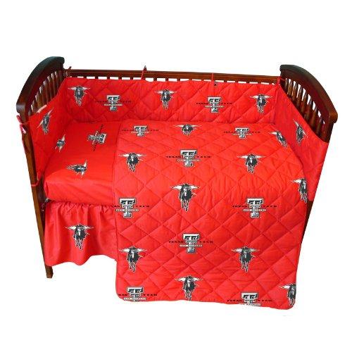 Texas Tech Red Raiders 5 Piece Crib Set and Matching Window Valance/Drape Set (Drape Length 84
