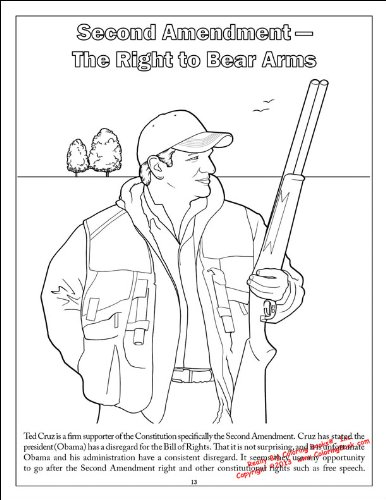 Ted Cruz to the Future Comic Coloring Activity Book