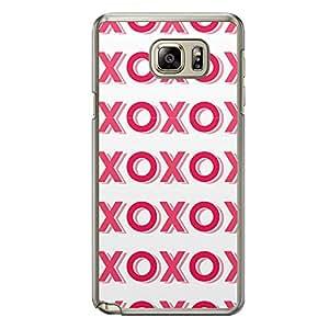 Loud Universe Samsung Galaxy Note 5 Love Valentine Printing Files A Valentine 154 Printed Transparent Edge Case - White/Pink