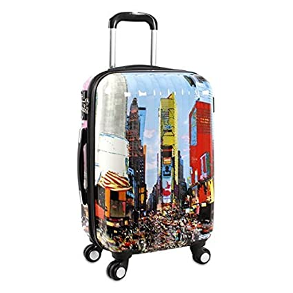 084b636939a8 Amazon.com : NY Color New York City Theme Hardtop Luggage NYC ...