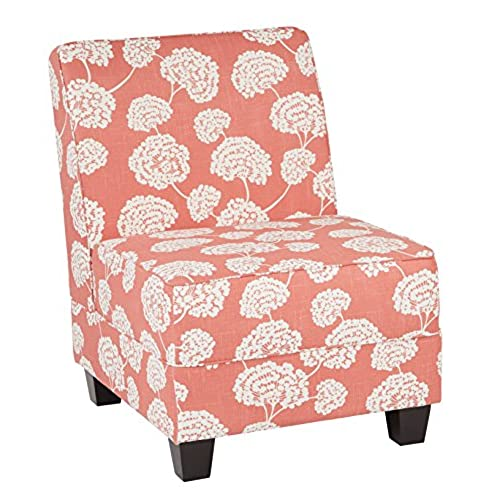 Ave Six Milan Chair, Toile Stems Coral Fabric