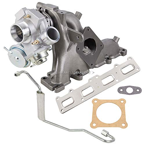 (Turbo Turbocharger w/Gaskets & Oil Feed Line For Chrysler PT Cruiser GT 2003 2004 2005 2006 2007 2008 2009 2010 - BuyAutoParts 40-80115IL New)