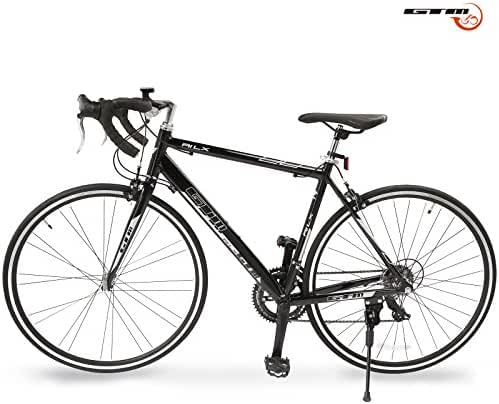 GTM Shimano Road Bike 14 Speed Racing Bicycle Aluminum Frame Black