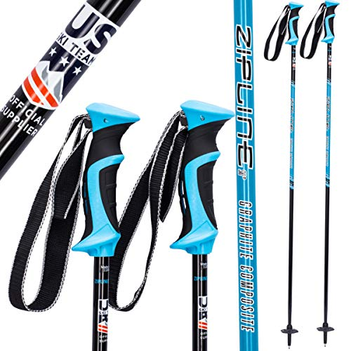 Ski Poles Graphite Carbon Composite - Zipline Lollipop U.S. Ski Team Official Supplier