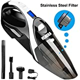 Kyпить Dust Buster Cordless, WELIKERA 12V 100W Cordless Handheld Vacuum, Powerful Portable Vacuum Cleaner, Rechargeable Vacuum with Stainless Steel Filter and A Carrying Bag, Black на Amazon.com