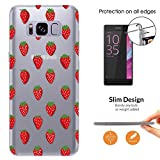 c01113 - Cool Red Strawberries Wallpaper Wimbledon Summer Fruit Samsung Galaxy S8+ Plus CASE Slim Light All Edges Protection Cover