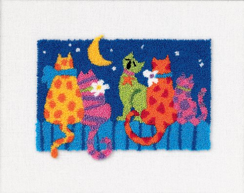 Dimensions Needlecrafts Punch Needle, Midnight Cats