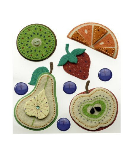 Jolee's Boutique Stitched Fruits Dimensional Stickers