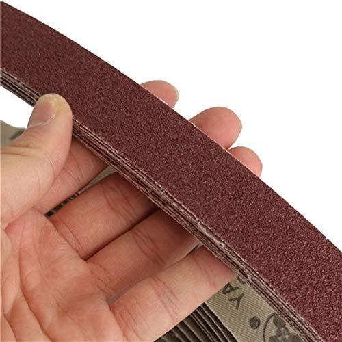 研削木工用10個入り80グリット760x25mmジルコニア厳しいサンディングベルト 修理ツール.