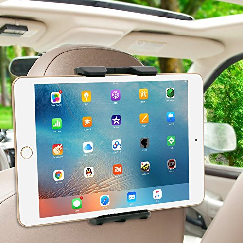 Price comparison product image Nacycase Car Headrest Mount Holder with Adjustable 360°Degree for Tablets - iPad 2 / 3 / 4 - iPad Mini , iPad Air / iPad Pro , Samsung Galaxy Tab S2 - Tab A and More 6-11 Inch Tablet