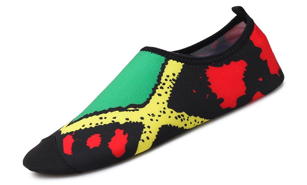 COSDN Women's/Men's Multifunctional Lightweight Flexible Breathable Quick Dry Beach Aqua Skin Shoes B07BDLLD8G (US) 8 women's/6.5 men's Green