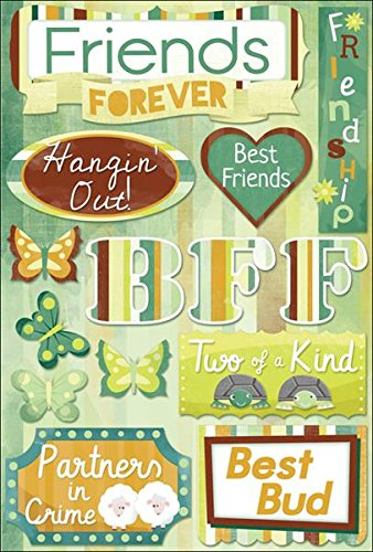 KAREN FOSTER Design Acid and Lignin Free Scrapbooking Sticker Sheet, Friends Forever ()