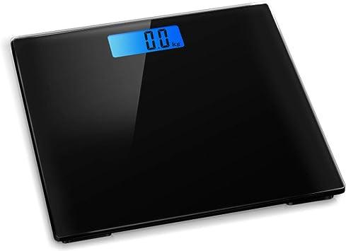 Báscula electrónica digital para baño de control de peso con retroiluminación, peso máximo de 180 kg, color negro: Amazon.es: Salud y cuidado personal
