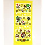 Marushin SUPER MARIO BROS. Face Towel Yellow Star Line