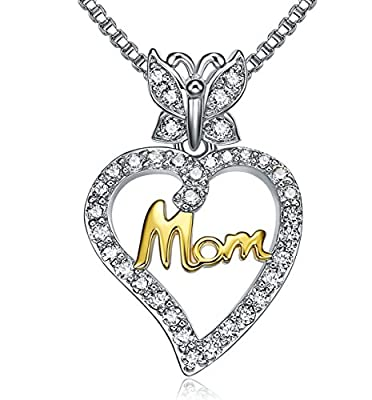LiLoing Jewelry for Women and Mom,Love Heart Pendant Necklaces for Women,Valentines Day,Christmas Day,Mothers Day Anniversary Gifts for her,Girlfriend,Wife