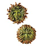 Design Toscano The Somerset 2-Piece Greenwoman and Greenman Sculpture Set in Faux Verdigris … For Sale