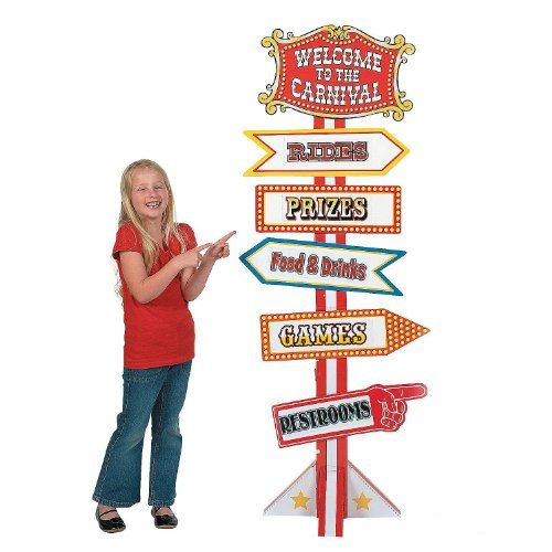 Big Top Directional Sign (Carnival Theme Party Games)