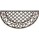 """Esschert Design Cast Iron Doormat - Half Round 26"""" x 13"""""""