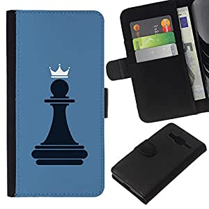 Planetar® Colorful Pattern Flip Wallet Leather Holster Protective Skin Case Cover For Samsung Galaxy Core Prime / SM-G360 ( Chess Pawn Queen )