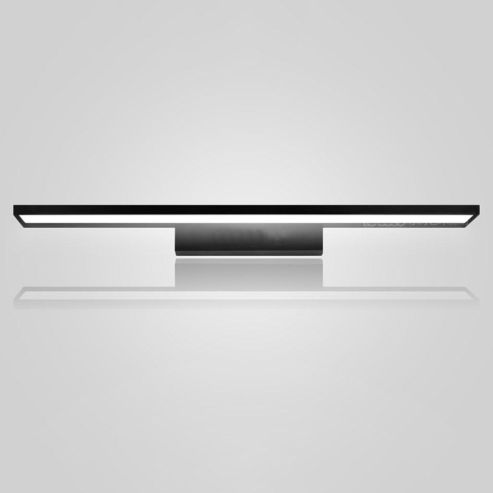 LJHA jingqiandeng アクリルLED防水ミラーフロントライトバスルームミラーキャビネットドレッシングテーブルランプトイレウォールランプ (色 : Silver-white light, サイズ さいず : 90cm-24W) B07L4CJ2CP 40cm-9W|ブラック、ホワイトライト ブラック、ホワイトライト 40cm-9W