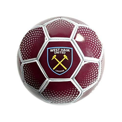 West Ham United FC Diamond Soccer Ball (5) (Red) (West Ham Players In 1966 World Cup)