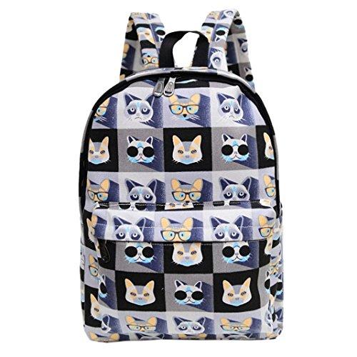 Clode® Las mujeres mochila lona bolsa de impresión de la escuela mochilas bandoleras A