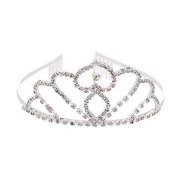 Amazon Com Bridal Crown Crystal Hair Hoop Peach Heart