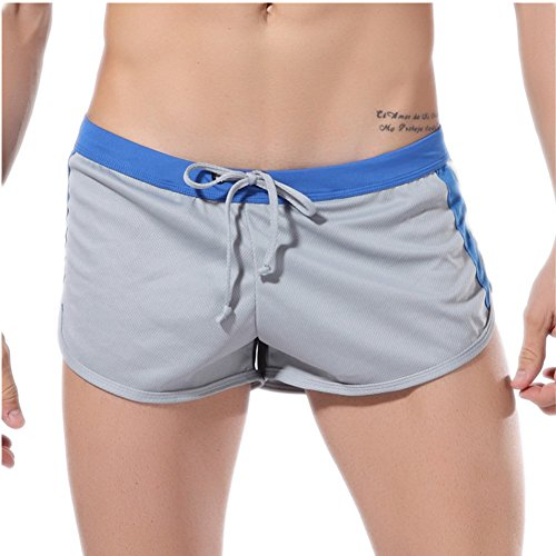 HCMP Running Workout Shorts Men Quick-Dry Lightweight Gym Training Shorts with Breathable Mesh Pouch