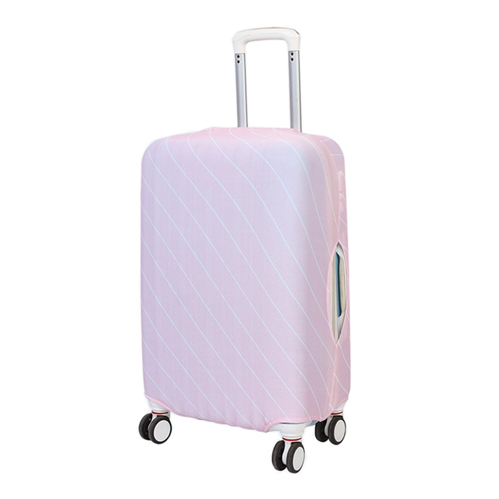JUMP Elastic Travel Luggage Cover Stretch Spandex Suitcase Protector Fits 18-28 Inch (L, 02-Pink)