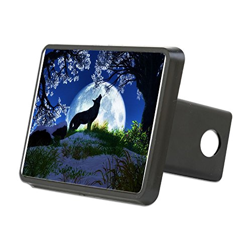 Wolf Truck Covers - CafePress - Howling Wolf Hitch Cover - Trailer Hitch Cover, Truck Receiver Hitch Plug Insert