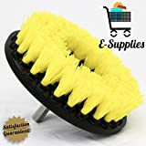 Multipurpose Drill Brush Attachment for Cleaning Carpets, Tile, Grout, Car Interior, Showers, 5-inch Diameter, Color Yellow, Medium Duty, General Cleaning