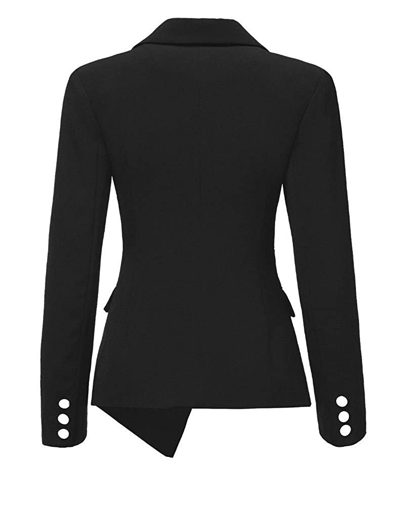 f02aab0c NJunicorn Uncle Womens Asymmetric Business Jacket Blazer Slim Fit Three  Button Coat Modern Formal Suit Jacket: Amazon.co.uk: Clothing