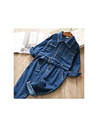 illusory44 Jumpsuit Spring Baby Girl Overalls Cotton Denim Kids Overalls