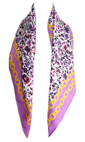 Juicy Couture Chain Floral Square Scarf - Juicy Scarf