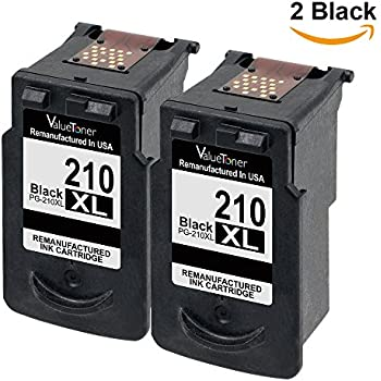 Valuetoner Remanufactured Ink Cartridge Replacement For Canon PG210XL 210XL 2 Black PIXMA
