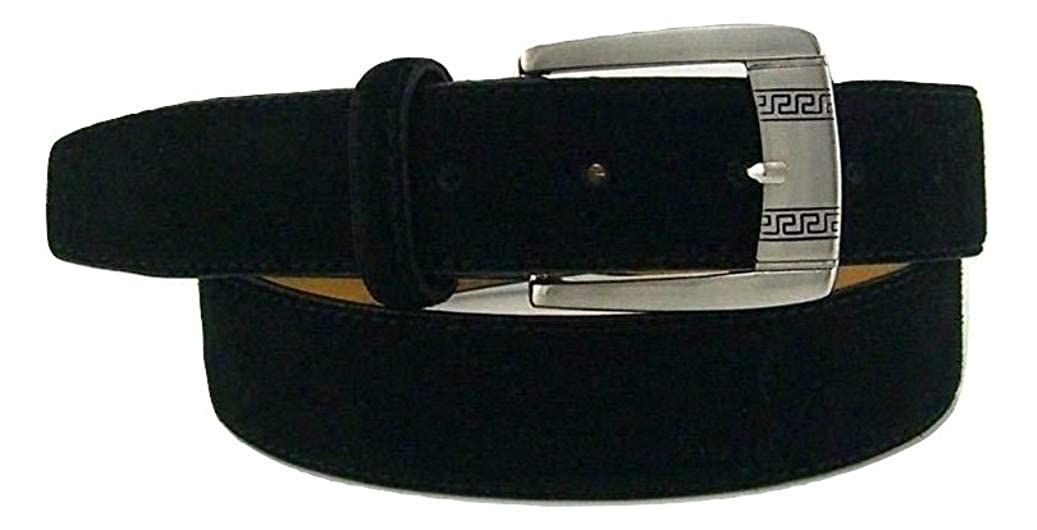 RDumani Mens Belts Suede Leather Belts Black 35mm Up to 46