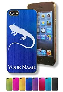 Apple Iphone 5/5S Case/Cover - IGUANA LIZARD - Personalized for FREE (Click the CONTACT SELLER button after purchase and send a message with your case color and engraving request)
