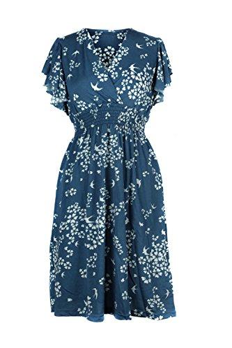 Ruffled Surplice Dress - 5