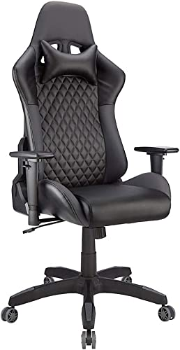 Realspace DRG Gaming Chair, Black Gray