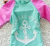 Jojobaby Kid Girl's Two-Piece Long Sleeve Swimsuits