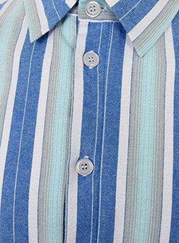 Gestreiftes Nachthemd aus reiner Baumwolle Herren