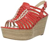 Enzo Angiolini Women's Jolted Platform Sandal,Dark Orange Leather,8.5 M US