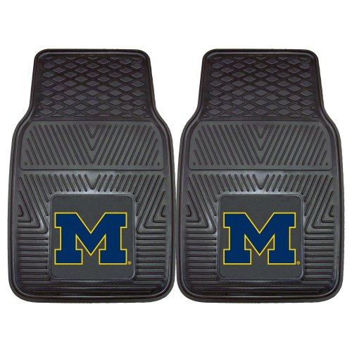 (FANMATS NCAA University of Michigan Wolverines Vinyl Heavy Duty Car Mat)