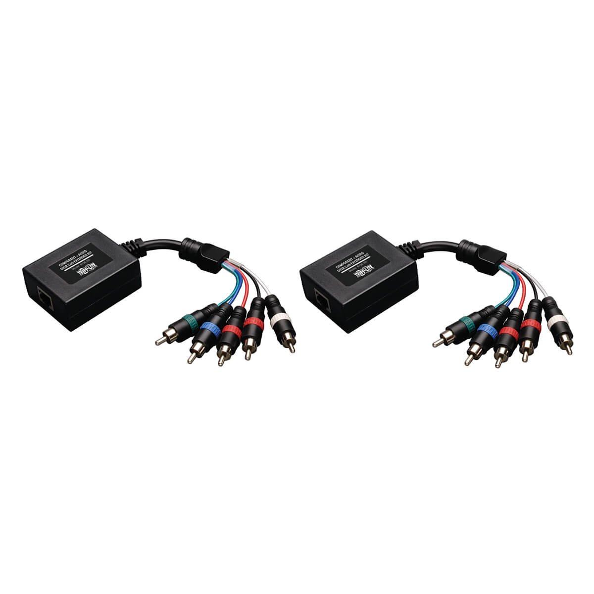 Tripp Lite Component Video With Stereo Audio Over Cat5 Cat 5 Wiring Diagram On Nti Cat6 Extender Transmitter And Receiver B136 101 Home Theater