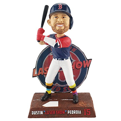 Forever Collectibles Dustin Pedroia Boston Red Sox Players Weekend - Laser Show Bobblehead MLB