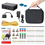 Image of Necessary Basic Starter Kit for Raspberry Pi 3 with Black Case and 2.5A Power Supply,Hundreds Electronic Component and Durable Carrying Case